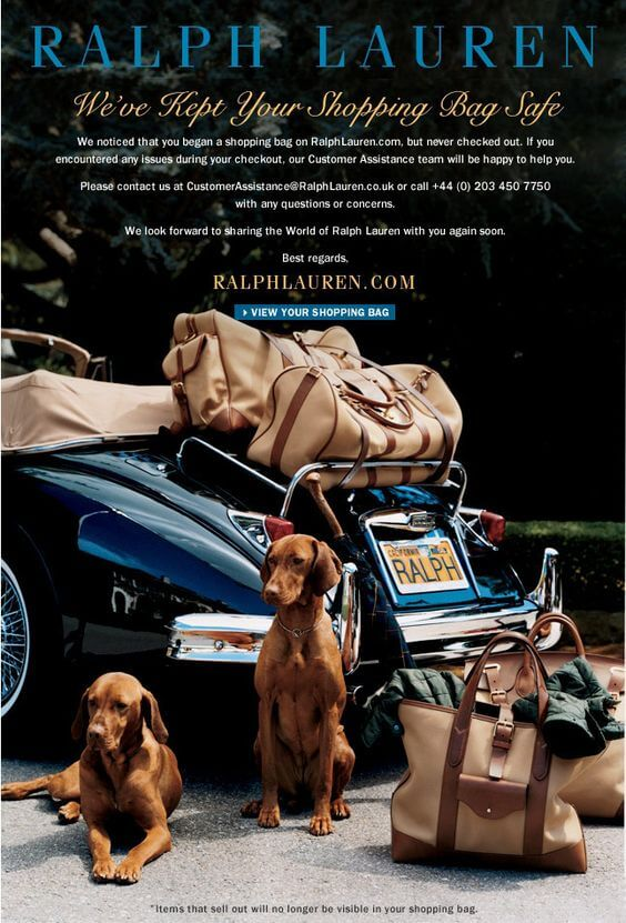 Ralph Lauren Abandoned Cart Email Template