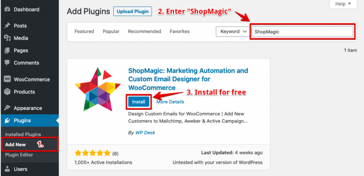 Install ShopMagic
