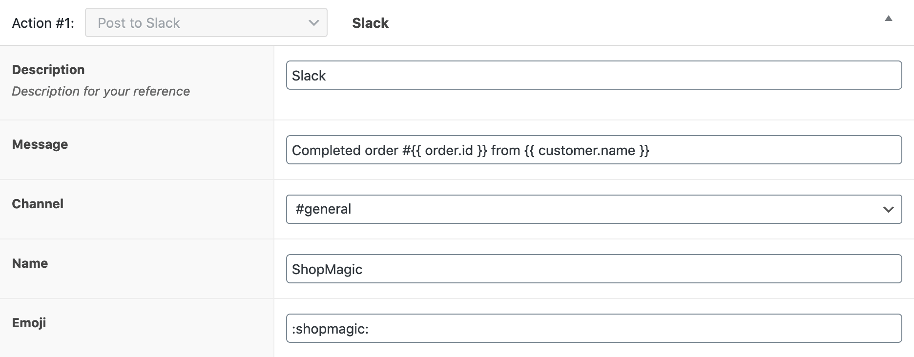 WooCommerce Slack Action