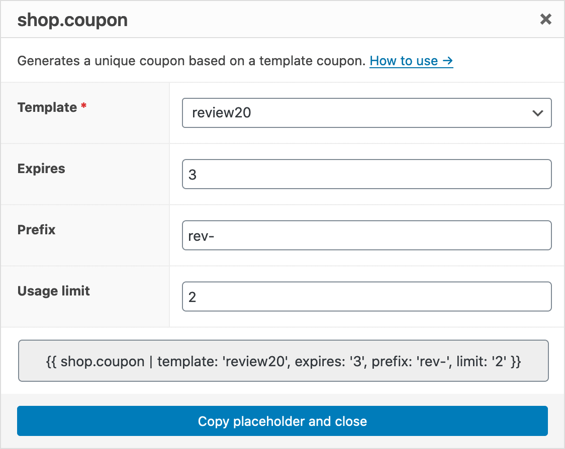 WooCommerce Shop Coupon Dialog