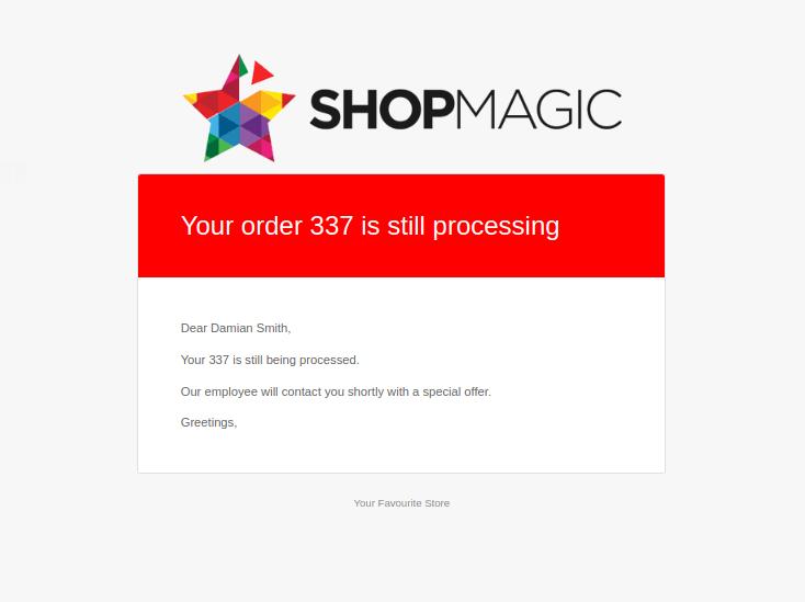 ShopMagic WooCommerce Triggered Email