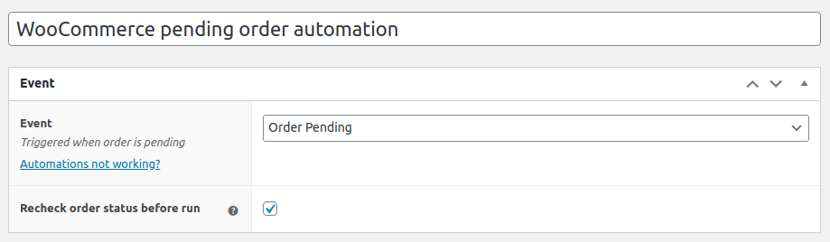 WooCommerce pending emails automation
