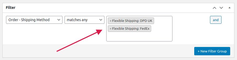 ShopMagic Flexible Shipping Filters