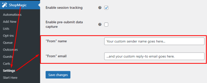 """New ShopMagic """"From"""" email settings"""
